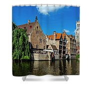 Canals Of Bruges Shower Curtain