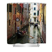 Canals Of Venice Italy Shower Curtain