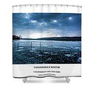 Canandaigua Lake Winter Shower Curtain