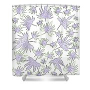 Canary Vine Leaves - Purple And Green Shower Curtain