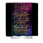 Cancer Shower Curtain by Mamie Thornbrue