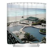 Cancun Beach Resort Shower Curtain