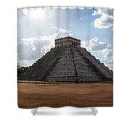 Cancun Mexico - Chichen Itza - Temple Of Kukulcan-el Castillo Pyramid 1 Shower Curtain