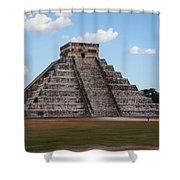 Cancun Mexico - Chichen Itza - Temple Of Kukulcan-el Castillo Pyramid 2 Shower Curtain