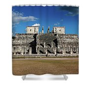 Cancun Mexico - Chichen Itza - Temple Of The Warriors Shower Curtain