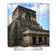 Cancun Mexico - Chichen Itza - Temples Of The Jaguar On The Great Ball Court Shower Curtain