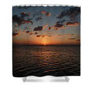 Cancun Mexico - Sunset Over Cancun Shower Curtain