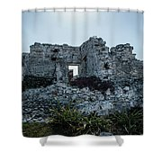 Cancun Mexico - Tulum Ruins - Palace Shower Curtain