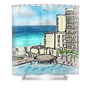 Cancun Royal Sands Shower Curtain