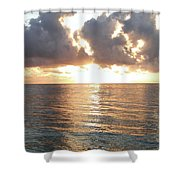 Cancun Sunrise Shower Curtain