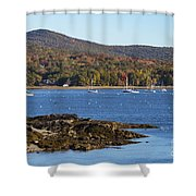 Candem Harbor Shower Curtain