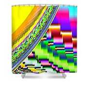 Candid Color 6 Shower Curtain