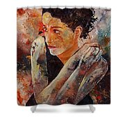 Candid Eyes Shower Curtain by Pol Ledent