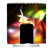 Candle And Colors Shower Curtain