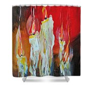Candle Dance  Shower Curtain