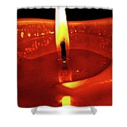 Candle Flame Shower Curtain