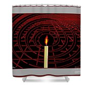 Candle Of Faith And Hope Shower Curtain