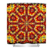 Candle Wood Shower Curtain