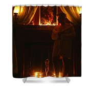 Candlelight Glow Shower Curtain