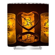 Candlelight Love Shower Curtain