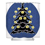 Candlelit Christmas Tree Shower Curtain