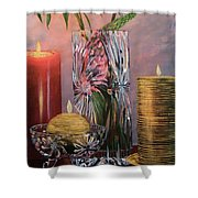 Candlelit Lupins Shower Curtain