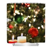 Candles For Christmas 3 Shower Curtain
