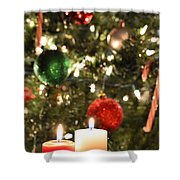 Candles For Christmas 5 Shower Curtain