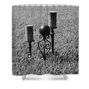 Candles In Grass Shower Curtain