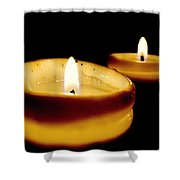 Candles In The Dark Shower Curtain
