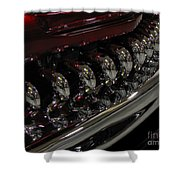Candy Apple Bullets Shower Curtain