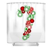 Candy Cane - Christmas Ornaments - Holiday Season Shower Curtain