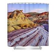 Candy Cane Desert Shower Curtain