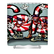 Candy Cane Gang Shower Curtain