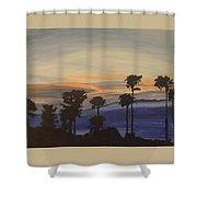 Candy-floss Sunset Shower Curtain