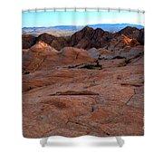 Candy Cliffs Sunset Shower Curtain