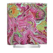 Candy Coated- Abstract Art By Linda Woods Shower Curtain