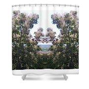 Candy Floss Greek Bush Shower Curtain