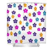 Candy Flower Bright Shower Curtain