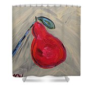 Candy Red Shower Curtain