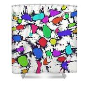 Candy Scatter Shower Curtain