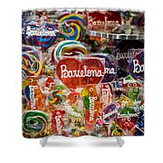 Candy Stand - La Bouqueria - Barcelona Spain Shower Curtain