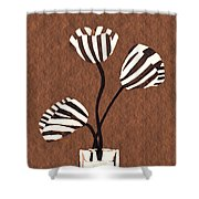 Candy Stripe Tulips 3 Shower Curtain