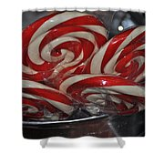 Candycane Lolli Shower Curtain