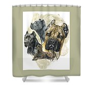 Cane Corso W/ghost Shower Curtain