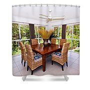 Cane Dining Setting Shower Curtain