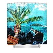 Cane Garden Bay Tortola 1997 Shower Curtain
