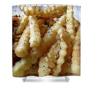Canes Chicken French Fries Shower Curtain