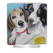 Canine Friends Shower Curtain