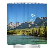Canmore Alberta Golden Hour Shower Curtain